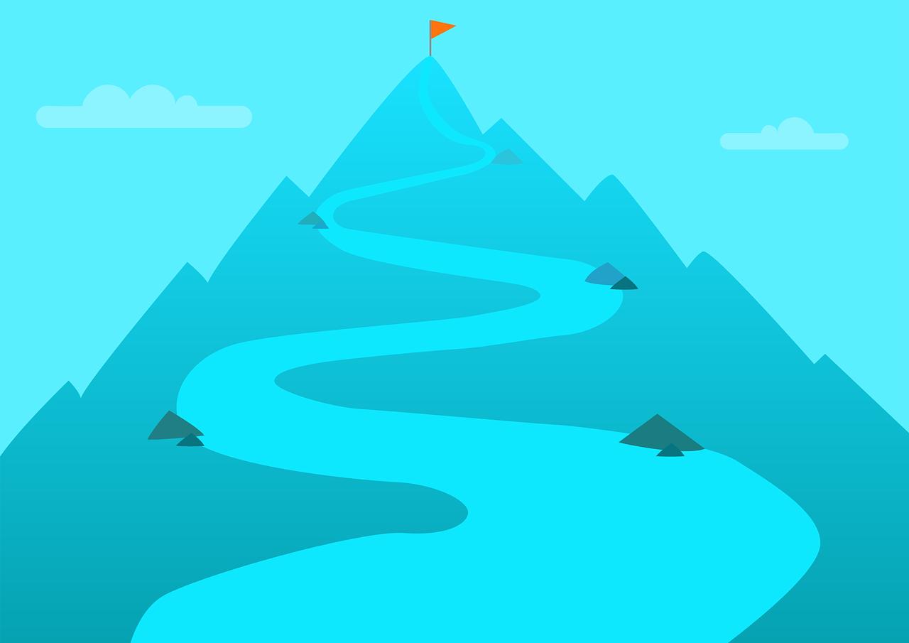 山頂へ続く山道